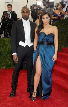Are these two on their honeymoon?  Kanye West and Kim Kardashian fuel more rumors at the Costume Institute of the Metropolitan Museum of Art's Charles James: Beyond Fashion exhibit on May 5 in New York
