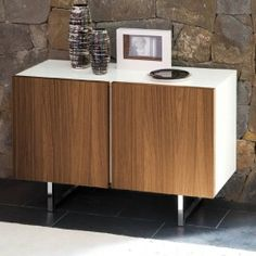 Seattle 2 Door Sideboard by Calligaris in White & Walnut http://www.nuastyle.com/sideboards/792-seattle-2-door-sideboard-by-calligaris.html