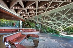 "Sheats-Goldstein House in Beverly Crest (near Beverly Hills) | Designed by John Lautner in 1961-63 | ""The most dangerous house you'll ever be in"""