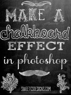 DIY photoshop chalkboard effect