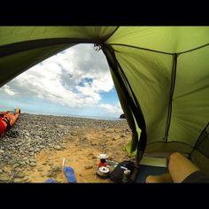 Kayak camping off the coast of Norway. Thanks to @Kristoffer Åkesson Van on Instagram.
