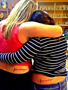 Best friend tattoos !! Forever and always ⚓