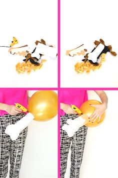 Make balloons that look like emoji turkey legs.