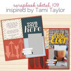 Scrapbook Page Sketch and Layered Template Scrapbook Sketches, Scrapbook Page Layouts, Scrapbook Pages, Scrapbooking Ideas, Grid Design, Layout Design, Tami Taylor, Photo Layouts, First Photo