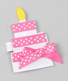Take a look at this Pink It's Your Birthday Clip by Pink Poseys Bowtique on #zulily today!