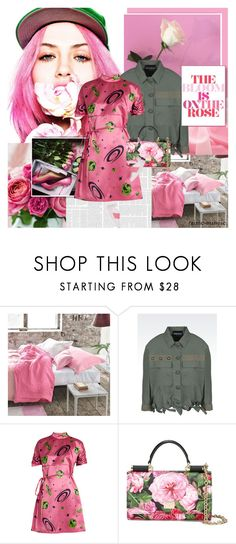 """""""The bloom is on the rose"""" by rainie-minnie ❤ liked on Polyvore featuring Emporio Armani, Miu Miu, Dolce&Gabbana and Valentino"""