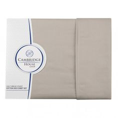 Cambridge House 1000 TC Euro Pillowcase Sets- Linen