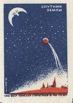 Space race propaganda from Russia