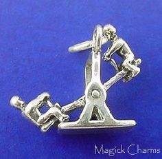 ★ Item # ★ Solid Sterling Silver ★ Charm ★ Not a Movable charm ★ Measures Approx: W x H ★ Includes Free Sterling Jump Ring ★ Cute Charms, Seesaw, Silver Charms, Magick, Charmed, Sterling Silver, 3d, Jewelry, Ring