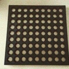 Karpet karet interlock anti slip dan anti licin  Ukuran: 40x60 cm Rp 40.000 60x90 cm Rp 90.000 90x90 cm Rp 125.000  MINAT Hubungi 0812-8376-0064 atau add BB 513D215E
