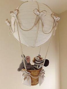 Hot Air Balloon Lamp/light shade. Jungle / circus, Boy / Girl | eBay