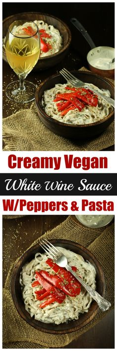 A creamy vegan white wine sauce made with fresh onions, garlic, plant-based milk, dried Italian herbs and a delicious white wine chardonnay. This sauce is oil-free, yet insanely creamy, rich and lick-the-spoon good.