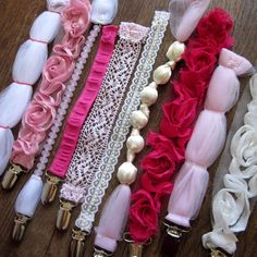 Girly Pacifier Clips Idea