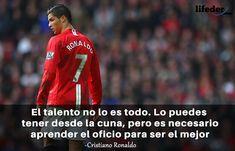 123 Frases de Fútbol Motivadoras de los Mejores de la Historia - Lifeder Cristiano Ronaldo, Messi, Baseball Cards, Sports, Women's Football, Hs Sports, Sport