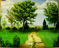 SOLD Original Oil Painting Landscape After the Rain on by MARVINSTUDIO, $115.00