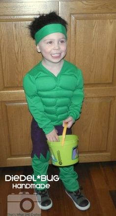 Hulk-- That's What She Crafted Spotlight. This was the costume I made for my oldest last year ;)