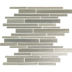 Bellavita Cashmere - CMTW Timber Wolf - Textured Hand Brushed Linear Strip Glass Tile Mosaic * SAMPLE *