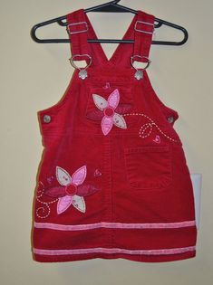 99aa25e06012e Nannette 2T Red Overall Jumper Dress Girls 2 #Nannette Toddler Girl Outfits,  Baby &
