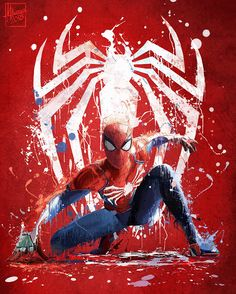 Downaload Spider-man, superhero, art wallpaper for screen Spiderman Pictures, Spiderman Art, Amazing Spiderman, Avengers Art, Marvel Art, Marvel Heroes, Spiderman Ps4 Wallpaper, Marvel Wallpaper, Splash Art
