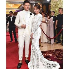 The gorgeous teen star KATHRYN BERNARDO wears a white Michael Cinco couture gown in detailed paillette all made by hand...chosen as Best Dressed  of the Night at the Star Magic Ball...thanks @boopyap @onlyjohnvalle @kpr313 @bernardokath... #couture #cinderella #starmagicball #kathrynbernardo #dubai #mydubai #madeindubai #michaelcinco...