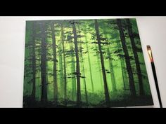 Magical Glowing Forest Acrylic Painting For Beginners Canvas Painting Tutorials, Acrylic Painting For Beginners, Acrylic Painting Tutorials, Beginner Painting, Painting Techniques, Simple Paintings For Beginners, Painting Lessons, Painting Tips, Acrylic Painting Flowers