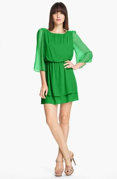 Alice + Olivia 'Petunia' Bell Sleeve Dress available at #Nordstrom