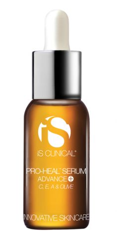 IS Clinical Pro-Heal Serum Advance is proven to restore damaged and irritated skin.  A great healing serum for rosacea and sunburn, it also soothes eczema, psoriasis and dermatitis.  Filled with botanicals, Vitamin C, retinol, antioxdiants and extracts, it heals and protects from further damage. Get IS Clinical skincare at www.dermpoint.com