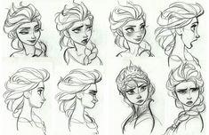 Холодное Сердце: концепт арты принцессы Эльзы