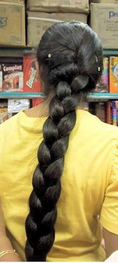Loose Hairstyles, Indian Hairstyles, Braided Hairstyles, Indian Long Hair Braid, Thick Braid, Long Black Hair, Beautiful Braids, Super Long Hair, Braids For Long Hair