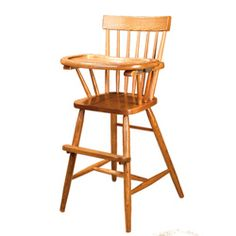 Old fashion wood highchair - Comeback Wooden Highchair