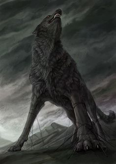 Gigantic wolves