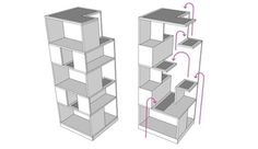 schematic for cat friendly bookcase   ...........click here to find out more     http://googydog.com