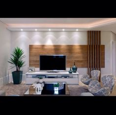 New Apartment Living Room Wall Tvs 51 Ideas Living Room Tv Wall, Living Room Tv, Living Room Tv Unit Designs, Living Room Design Modern, Living Room Modern, Modern Room, Apartment Living Room, Tv Room Design, Cool Apartments