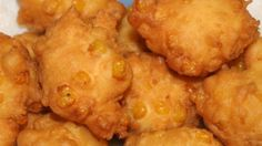 Nothing warms up a cool night like a plateful of old-time corn fritters! Dig in, these are delicious!