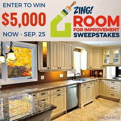 There's only one week left to enter the Zing Room for Improvement Sweepstakes! It's running now through September 25! Enter once per day for a chance to win $5000 to renovate a room in your house. Two $500 prizes will also be awarded to redecorate a room. To enter tap the link in our profile and be sure to check out our amaZING articles for ideas on what you can do with your winnings! @quickenloanszing @quickenloans #roomforimprovement #renovation #homerenovation #homereno #redecorate…