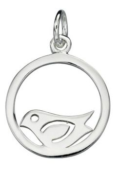 Shop - Jewellery and Accessories - Silver Bird in a Circle Necklace, Liverpool museums