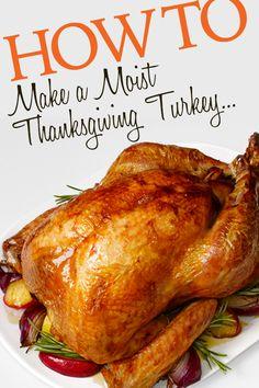 How to Make a Moist Thanksgiving Turkey Thanksgiving Feast, Thanksgiving Recipes, Holiday Recipes, Holiday Ideas, Food Network Recipes, Cooking Recipes, Dessert For Dinner, Holiday Dinner, Carne