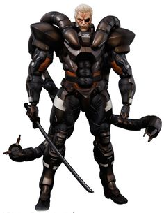 Awesome collectible...Solidus Snake Metal Gear Solid 2 Play Arts Kai figure