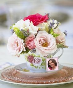 Teacup Floral Arrangement