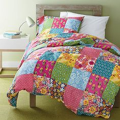 I haven't thought of making a patchwork duvet cover instead of a full quilt. hmm. great way to use up layer cakes.