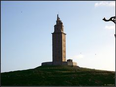 Torre De Hercules, A Coruna, Spain-  The Tower of Hercules clocks in at nearly 2000 years old and is considered to be the oldest surviving lighthouse in the world. The Romans once knew the northern coast of Spain where it resides as Costa da Morte, the Coast of Death, because it is notorious for deadly shipwrecks. Today the 55M tall lighthouse is a UNESCO World Heritage Site.