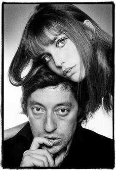 Photo de Jane Birkin et Serge Gainsbourg en 1970, à voir à la galerie Hegoa durant l'exposition Gainsbourg toujours 25 ans