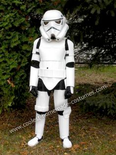 Homemade Stormtrooper Costume: My husband makes it a tradition every Halloween to make our daughter (she is 5) a homemade costume. This year, since they both love Star Wars (she probably