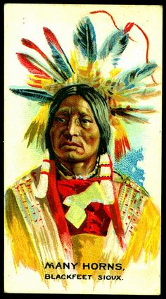 Cigarette Card - Indian Chief, Many Horns