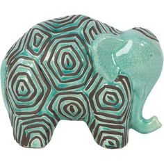 Showcasing an eye-catching honeycomb motif and charming elephant design, this artful accent adds natural charm to your credenza or console table.