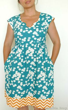Suburbia Soup: Washi Dress #3. I have to find a similar pattern, but I like the…