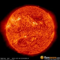 The hourly sun (at 11:45 pm  UTC on  4 February 2013)