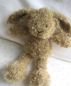 knitted rabbit by Little Cotton Rabbits