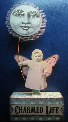 Moon Fairy Doll Altered Folk Art 3D Collage Hand-Made Mixed Media by Stella_Bella | eBay