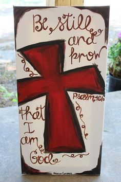 Cross Painting- (10x20) on canvas MADE TO ORDER